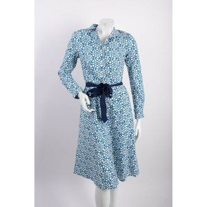 Boden Womens Shirt Dress UK 8L US 4L Blue White
